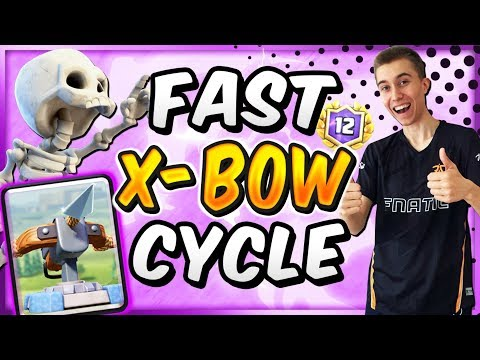 NO ONE EXPECTS THIS! OFF-META FAST XBOW CYCLE DECK! — Clash Royale