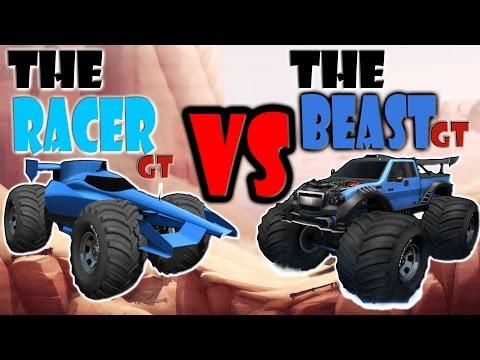 Racer GT vs Beast GT - MMX Hill Climb / Dash