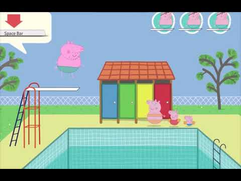 Peppa Pig On The Pool Daddy Pig Diving Game