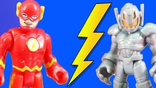 Imaginext Flash Speedster Loses His Speed To Ultron + Justice League Teams Up With Villains