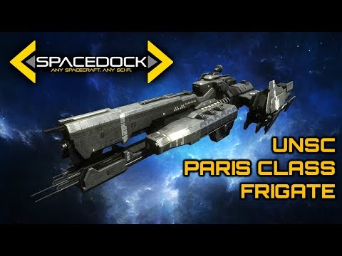 Halo: UNSC Paris Class Heavy Frigate - Spacedock