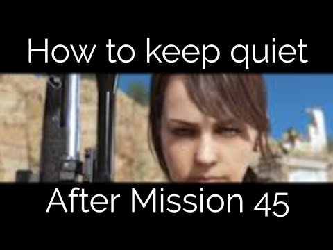 how to keep quiet mgsv