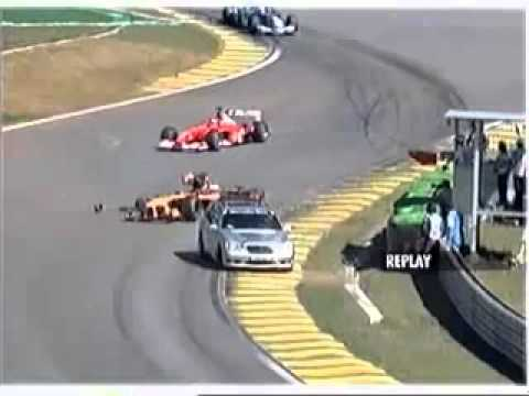 F1 Brazil 2002   Heidfeld Safety Car Crash