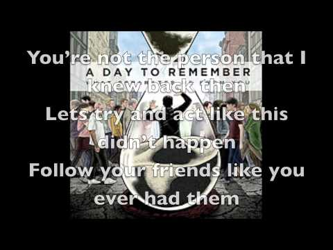 A Day To Remember - It's Complicated (Acoustic) HD LYRICS