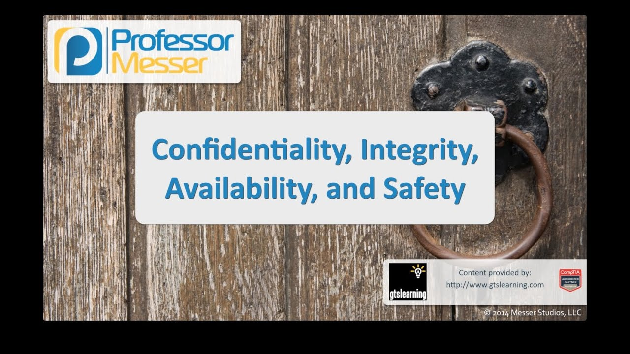 Confidentiality, Integrity, Availability, and Safety - CompTIA Security+ SY0-401: 2.9