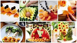10 Super Fruits Decoration Ideas - Creative Food Carving Garnish