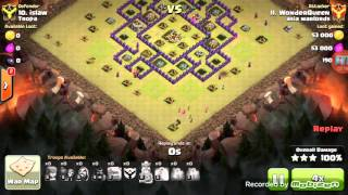 Clash of Clans | How to Do GoHoWi on a TH8 war base.Three stars war attacks