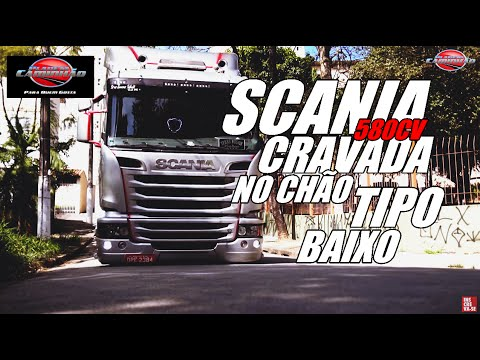 SCANIA 580cv ARRASTANDO PARACHOQUE NO CHÃO - Planeta caminhão/7008films