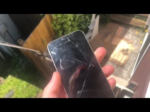 iPhone 4 dropped onto wood from 15 feet