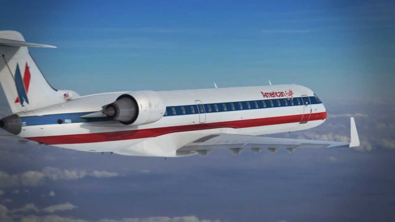 American Airlines Visualisation  CRJ 700  YouTube