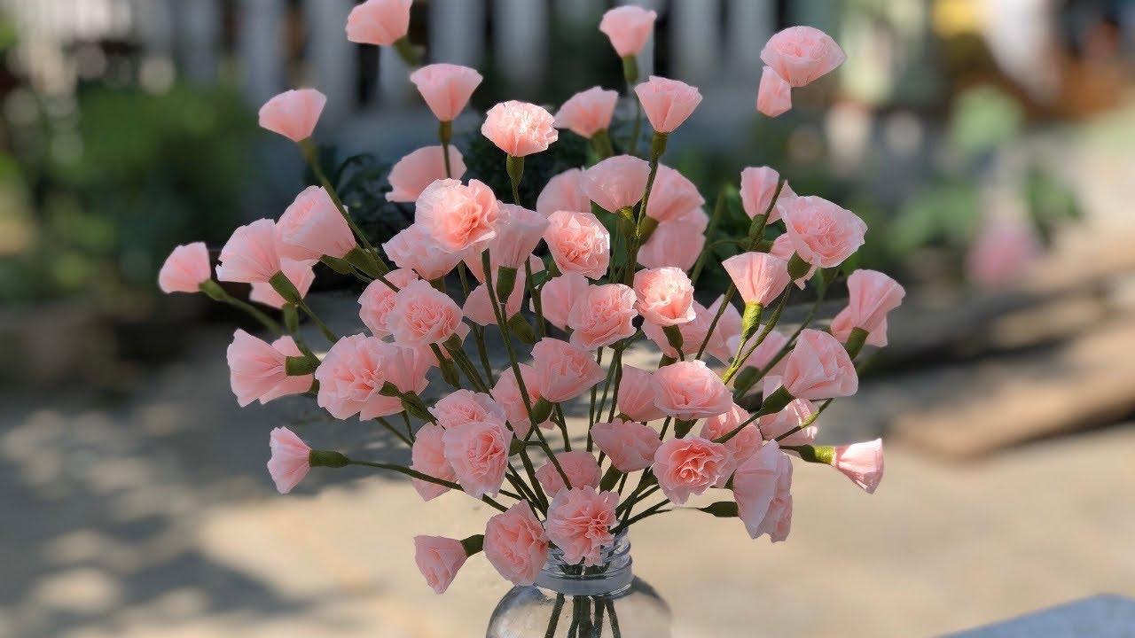 EASY PAPER FLOWERS  TUTORIAL   HOA GIẤY DỄ LÀM   Rita Handmade