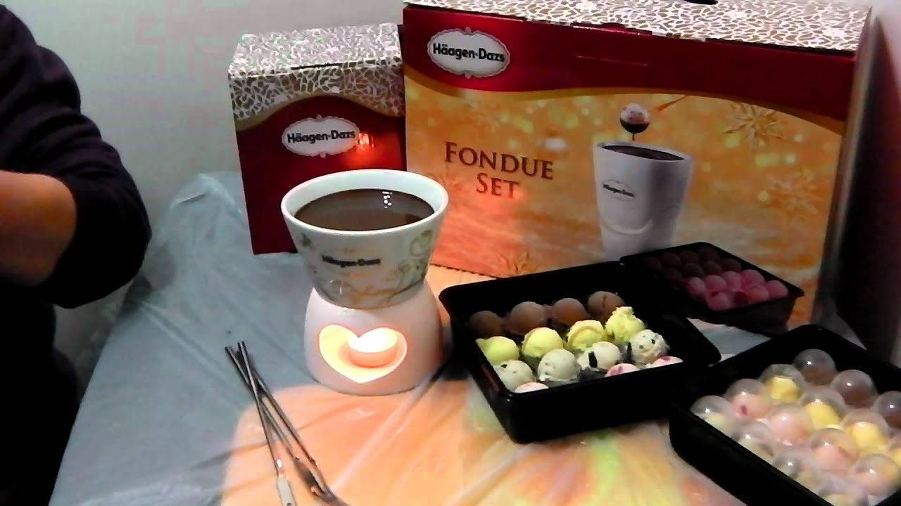 Haagan Dazs...Chocolate Fondue Set....yummy ...yummy ...