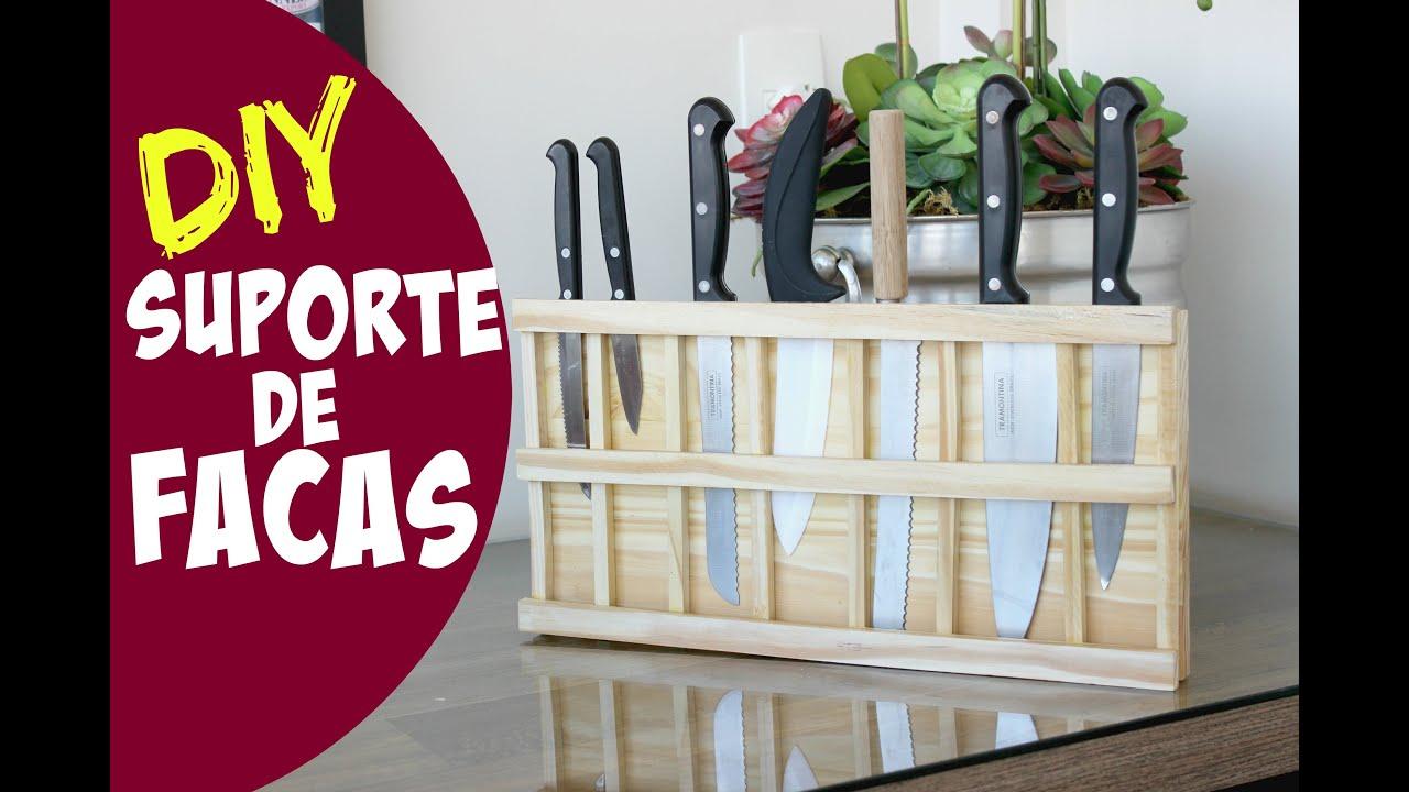 SUPORTE DE FACAS EM MADEIRA DIY #ClubeDaCasa   #7C052A 3318x2212