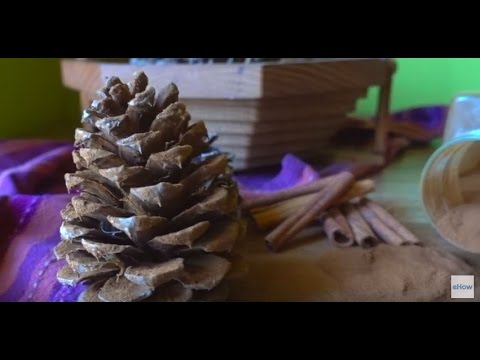 How to refresh scented pine cones