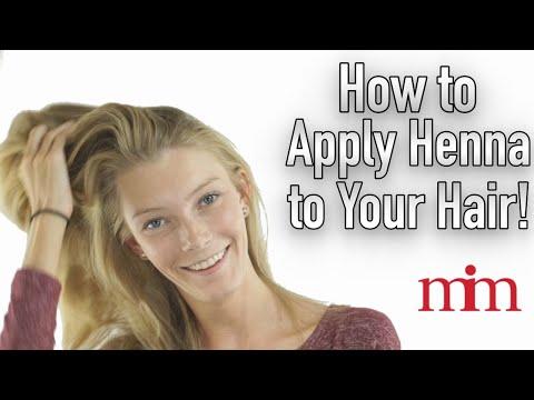 Apply Henna On Hair For Strength Color Shine Tutorial Youtube