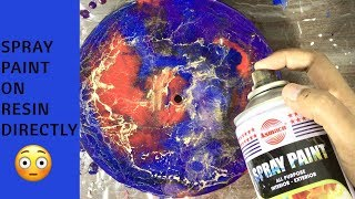 What happens if you spray paint directly on wet resin | Resin Art | Monday pour