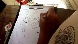 Inking gamabunta , naruto