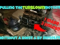 HOW TO PULL A MOTOR WITHOUT A ENGINE HOIST BY YOURSELF!
