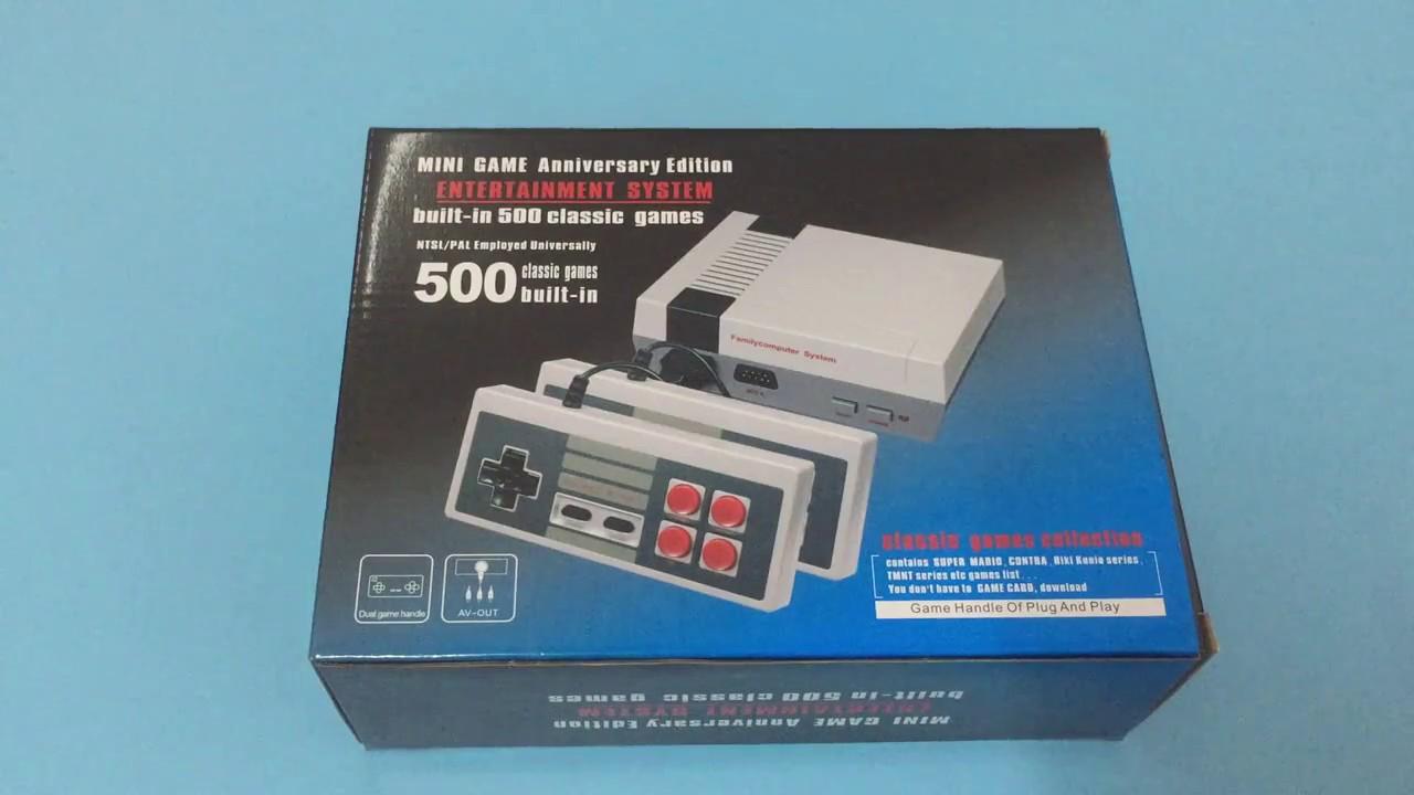 22d69fc73672 Retro Mini Video Game Console Entertaiment System 500 Games - YouTube