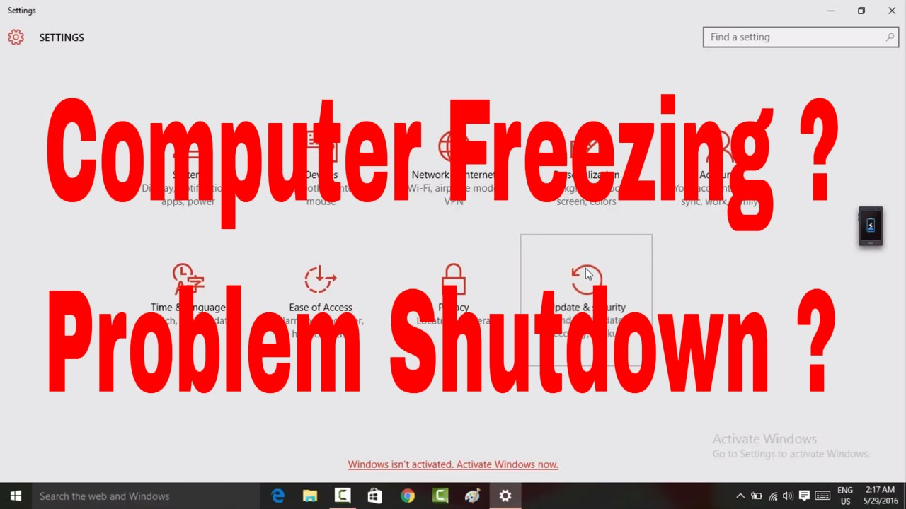 How To Fix Problem With Shutdown And Freezing Automatic Issues Windows 10 Shutdownproblem Techtip
