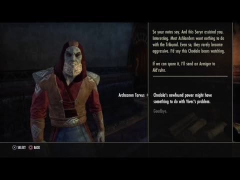 ESO Morrowind main Quest line: A -
