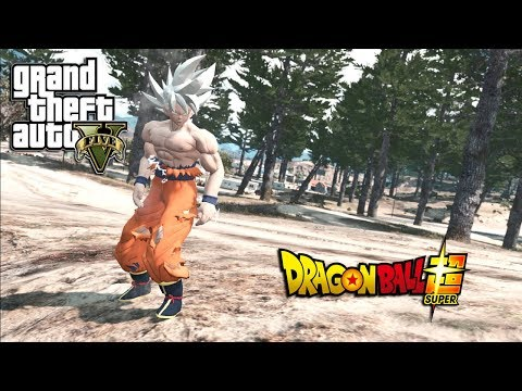 GTA 5 GOKU MASTERED ULTRA INSTINCT VS BROLY DBZ MOD (GTA 5 PC MODS)
