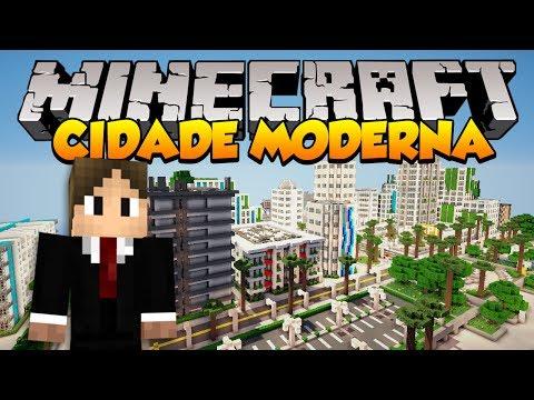 Minecraft Mapas: Incrível Cidade Moderna! (Greenfield)