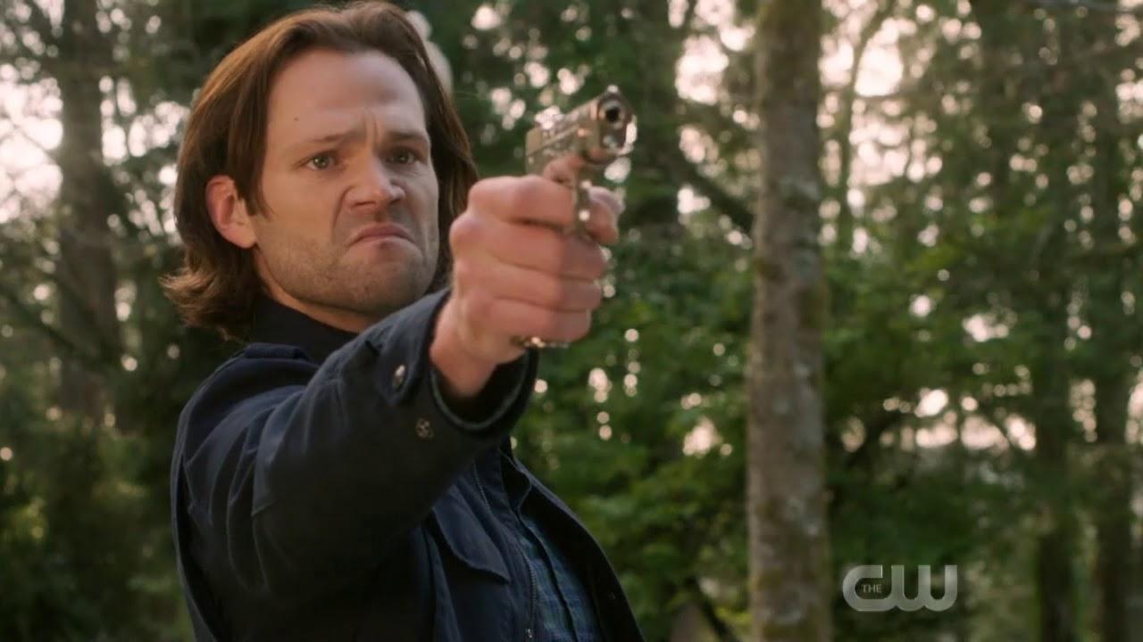 Supernatural Season 14 Finale-Sam Shoots God