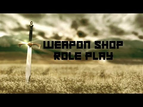 ASMR Weapons shop roleplay (Tapping swords, softly spoken)