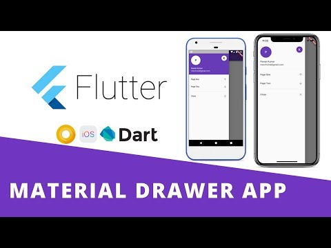 Flutter - Build Beautiful Material Navigation Drawer App With Routing   Android & iOS