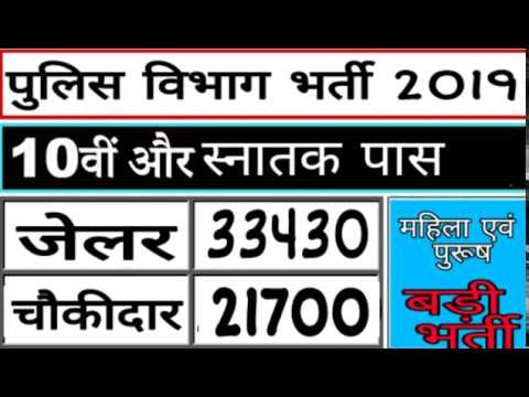 पुलिस भर्ती 2019/ Police Recruitment 2019 / Online Apply / 10th Pass Police vanacay 2019/ Latest