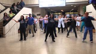 Encore Flash Mob at UCONN Health Center