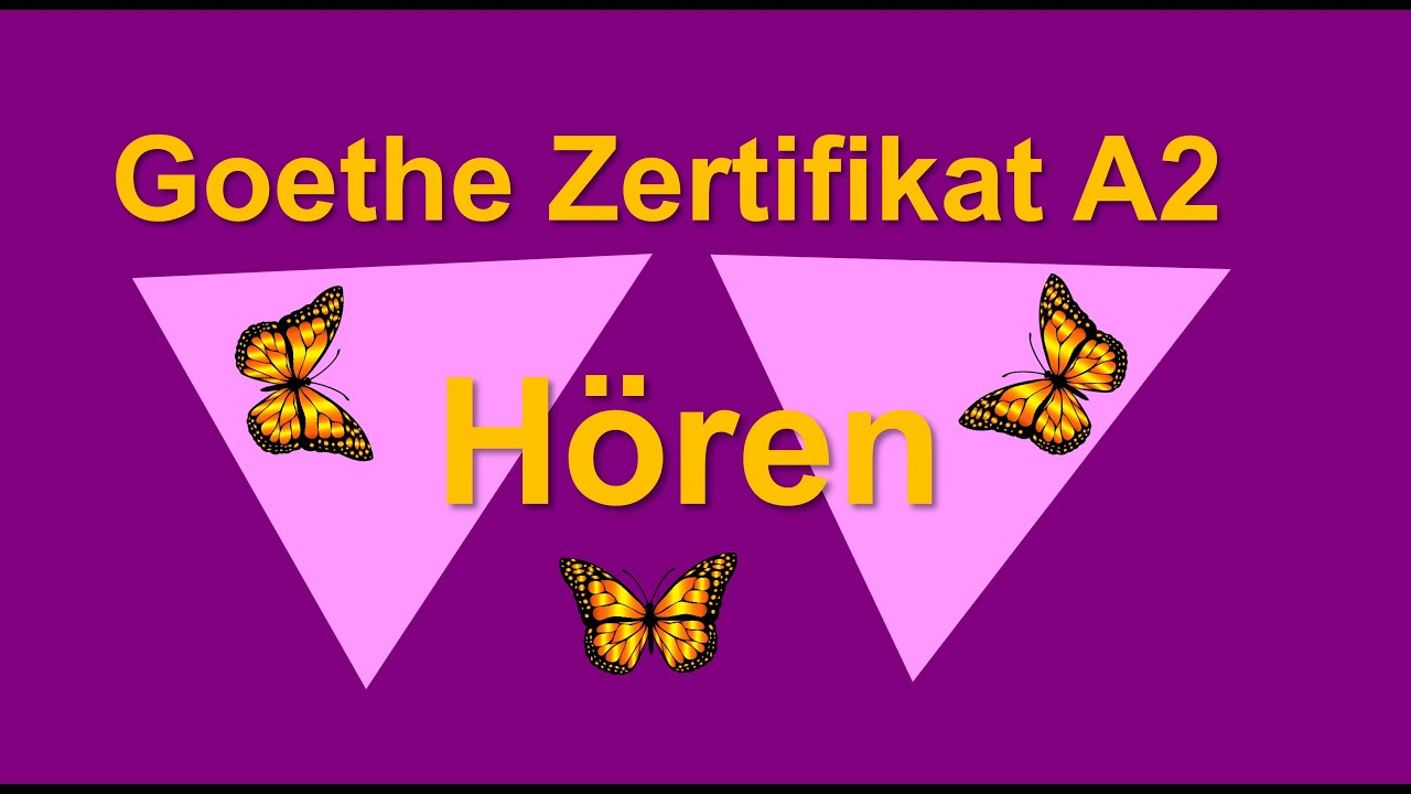 Goethe Zertifikat A2 Start Deutsch 2 Hören Video Más Popular