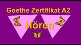 Goethe Zertifikat A2  - Start Deutsch 2 Hören