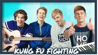 The Vamps & Doug Armstrong perform an Acoustic cover of Kung Fu Fig...