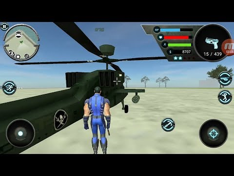 Going to Island with Helicopter - Rope Hero Revolution  | Android Gameplay |
