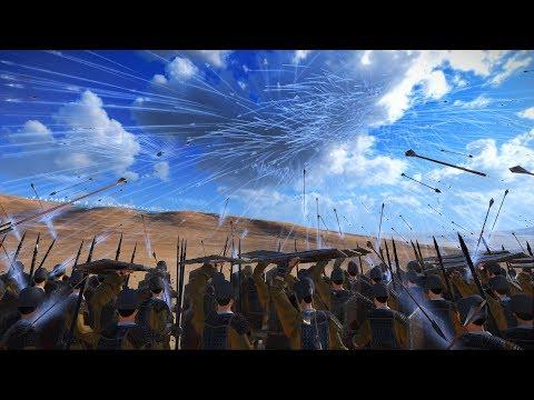 1000 HEAVY SHIELD SPEARMEN vs 8000 OXYN ARCHERS - Total War THREE KINGDOMS |