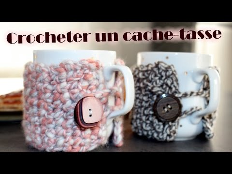 cache tasse au crochet maille serr e youtube. Black Bedroom Furniture Sets. Home Design Ideas