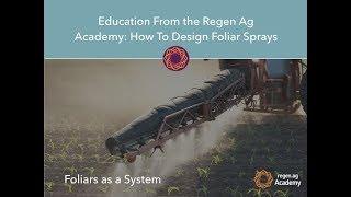 How to Design Foliar Sprays