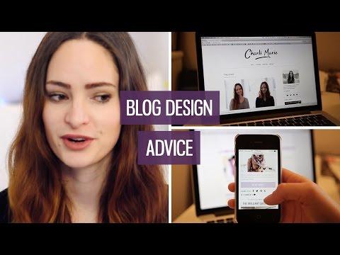 Tips & Advice For Blog Design | CharliMarieTV