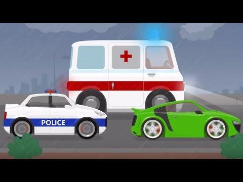 Мультфильм про машинки, скорую помощь и доктора. Лечим Доктора Машинкову