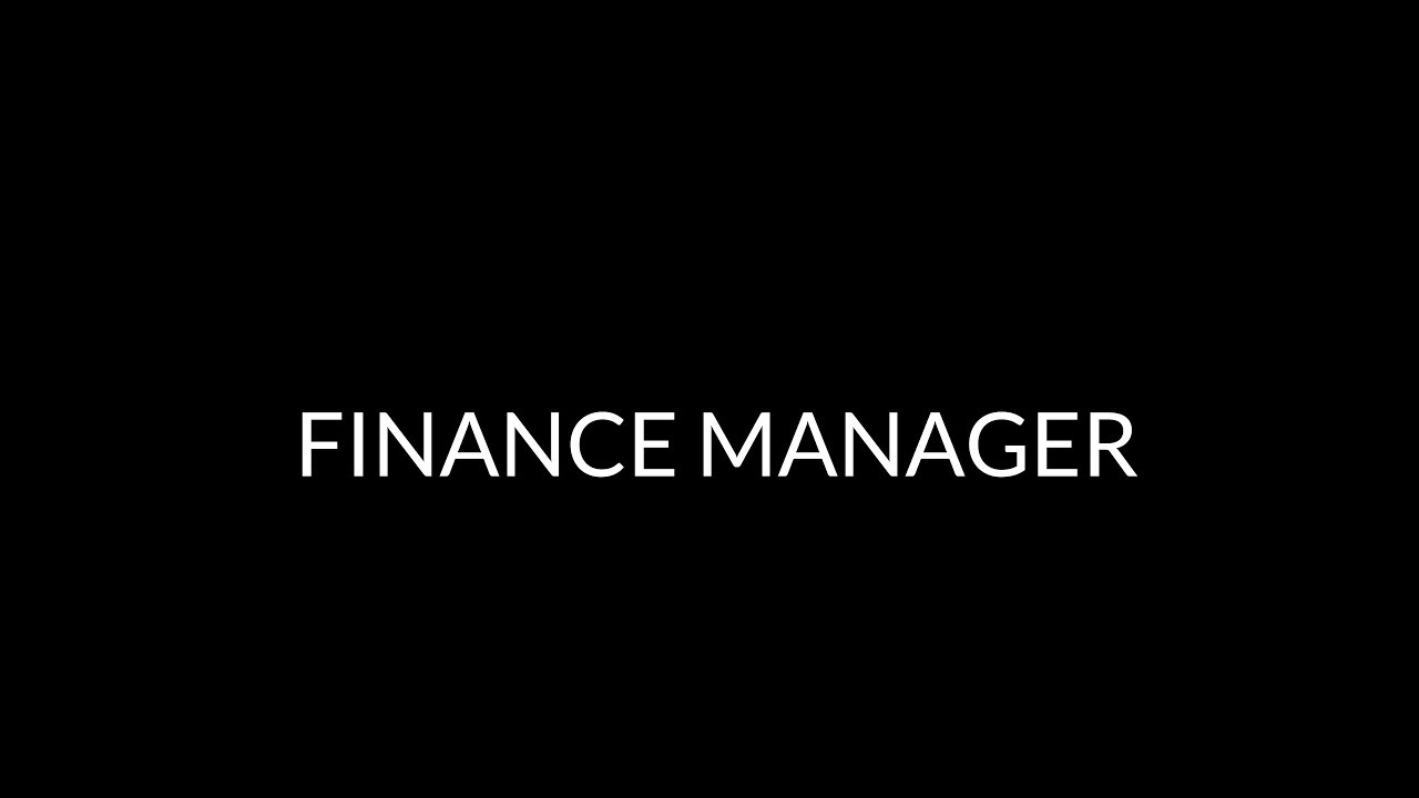 Finance Manager — Crossover