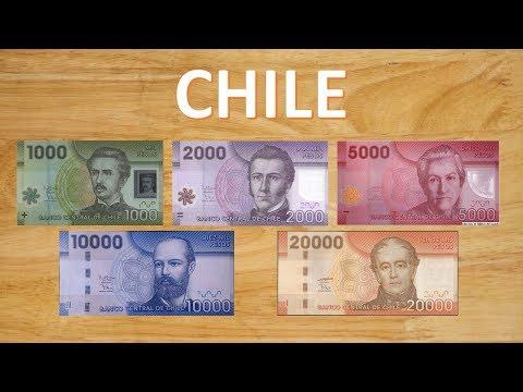 Los billetes que circulan actualmente en Chile – 2018 – Familia de Billetes – Cono monetario