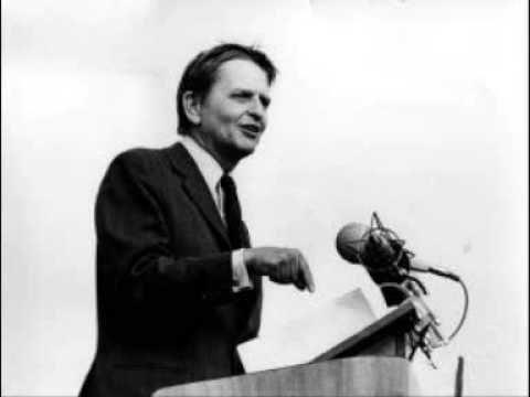 Olof Palme - Demokrati och människovärde (1975)