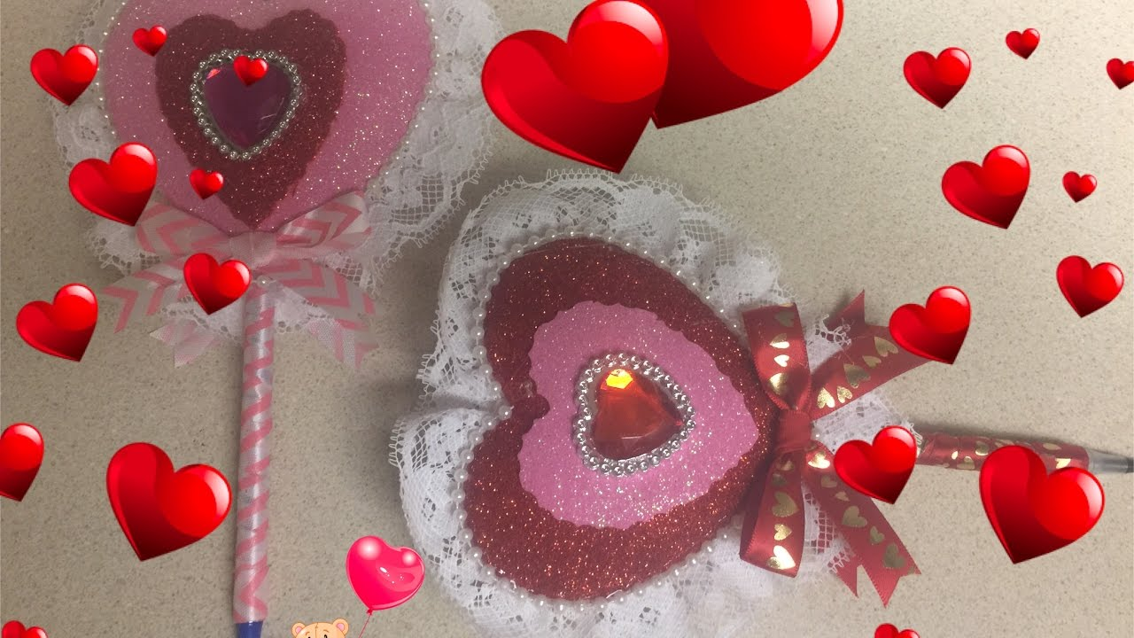 Manualidades Para El Dia De San Valentin Boligrafo Corazon