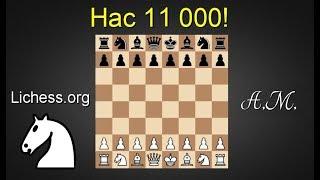Нас 11 000! Игра со зрителями на lichess.org ! Шахматы.