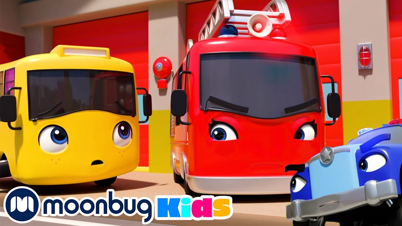 Emergency Song - Ambulance Fire Truck & Police Car   Buster and Friends   Songs for Kids   Go Buster