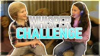 Escape From Mr. Lemoncello's Library Movie Cast Does the WHISPER CHALLENGE!!