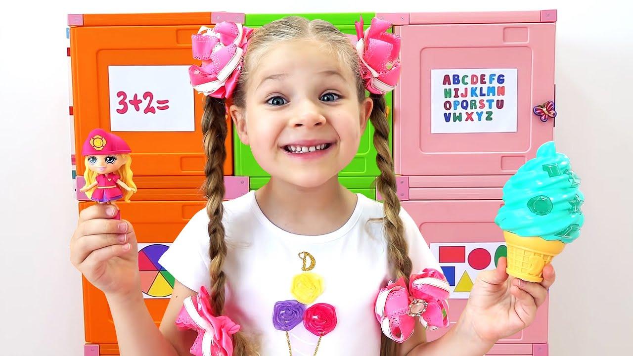 Diana dan Roma Belajar cara membuka kotak mainan dengan memecahkan permainan dan aktivitas Logika
