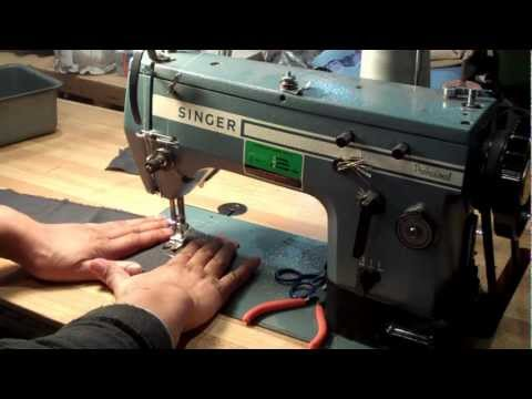 Singer 20U Industrial Sewing Machine Tutorial